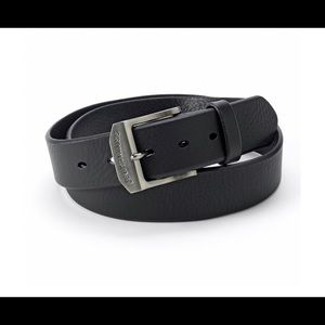 Men's Levi's Logo Buckle Leather Belt